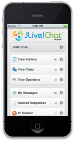 Joomla Live Support Mobile Home Screenshot