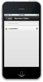 Joomla Live Support Mobile Operators Online Screenshot